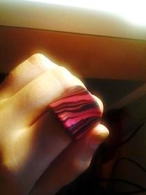 Marbled Polymer Clay Ring