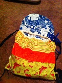 Scrap Fabric Bag