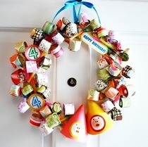 Party Blower Birthday Wreath