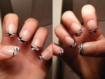 Zebra French Tips