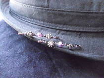 Purple Beaded Bobbie Pins