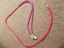Pink And Purple Earphone Cord