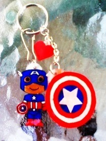 Captain America Keychain (: