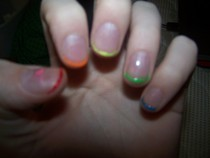 Rainbow French Nails