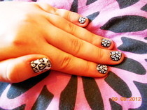 Skull And Leopard Print Nails \M/