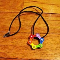 Pride Bike Chain Pendant