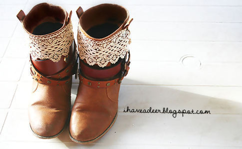 Restyle Old Boots With Belts