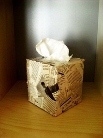 Newspaper Tape Dispenser And Tissue Box