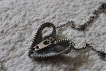 Zipper Heart Necklace