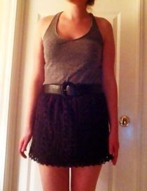 No Sew Shirt To Skirt