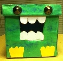 Small Cardboard Monster Box