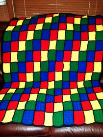 Crochet Lego Throw Blanket