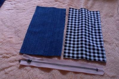 How to make a pouch, purse or wallet. Diy Denim Pencil Case - Step 2