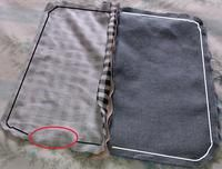 How to make a zipper pouch. Diy Denim Pencil Case - Step 6