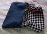 How to make a zipper pouch. Diy Denim Pencil Case - Step 9