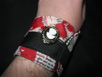 Poe Inspired Fabric Cuff Bracelet