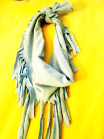 T Shirt Scarfs: Summer Tassle Scarf
