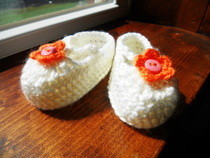 Crochet Mary Jane Baby Booties