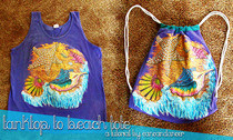 Tank Top To A Drawstring Bag 