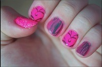 Nicki Minaj Pink Inspired Nails