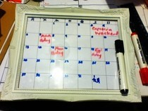 Dry Erase Calendar