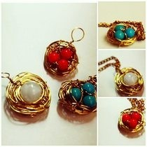 Bird Nest Pendant &amp; Ring