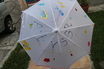 Puffy Painted Umbrella