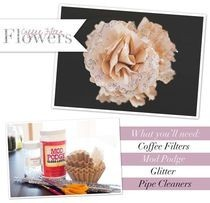 Coffee Filter Flowers Diy