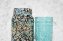 Fabric Jar Luminary Diy