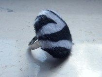 Zebra Fur Ring