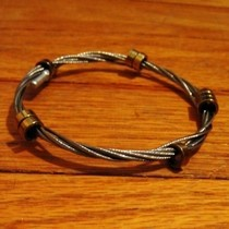 Bike Chain And Shifter Cable Bracelet