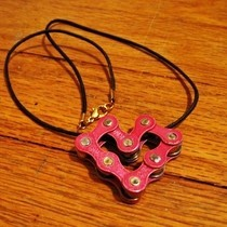 Heart Bike Chain Pendant