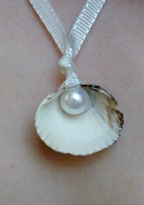 Sea Shell + Pearl Necklace