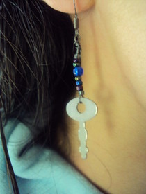 Diary Key Earrings