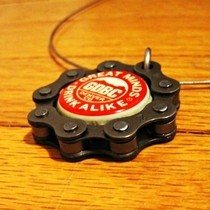 Bike And Beer Pendant