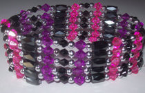 Cheshire Cat Magnetic Hematite Wrap Bracelet