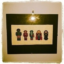 Avengers Sprite Cross Stitch