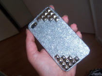 Iphone Case With Studs And Glitter