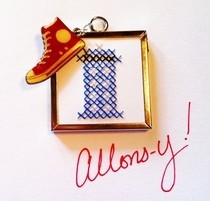 Tiny Tardis Cross Stitch Charm