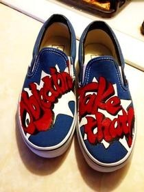 Phoenix Wright Painted Vans