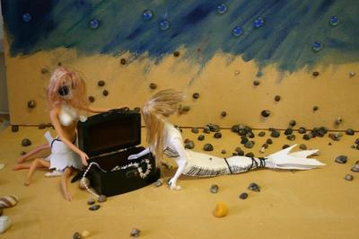 How to make a photography. Mermaid   Stop Motion Film - Step 4