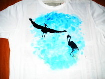 Herons On A T Shirt