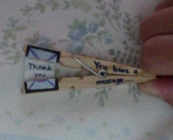 How to make a recycled card. Clothespin Message - Step 14
