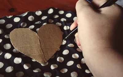 How to make a cut-out dress. Heart Cutout Dress - Step 3