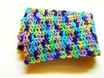 Purple & Green Variegated Scarf