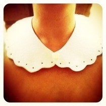 Peter Pan Collar From White Felt