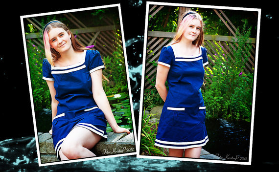 Sailor Inspired Dress