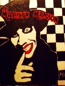 Smells Like Children, Manson Painting