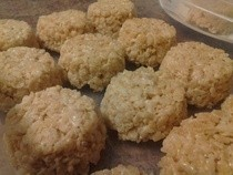 Round Rice Krispie Treats