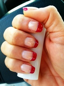 Cute Colored Tip Manicure